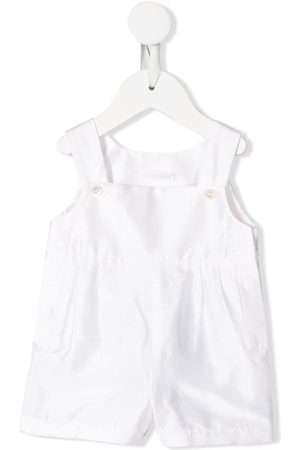 Dolce & Gabbana Square-neck buttoned dungarees