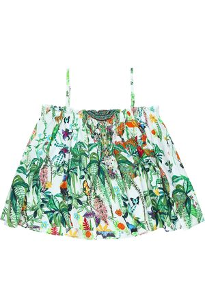 Camilla Embellished printed cotton top