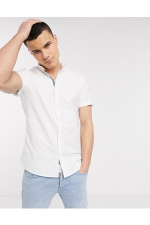 River Island Oxford shirt in with embroidery