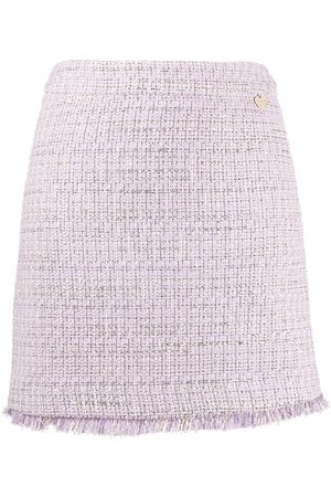 Twin-Set Tweed straight fit skirt