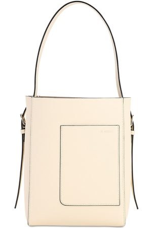 VALEXTRA Mini Soft Grained Leather Tote Bag