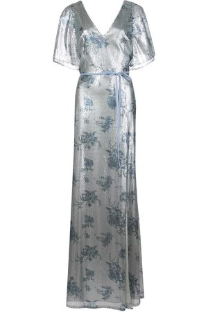 Marchesa Notte Bridesmaids Bridesmaid floral-printed sequin gown