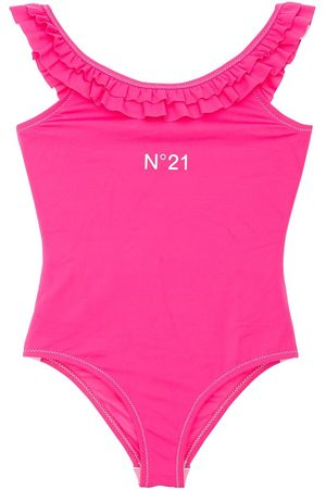 N°21 Girls Swimming Costumes - Ruffled One Piece Swimsuit