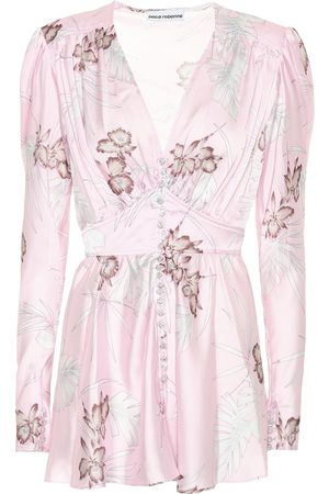 Paco rabanne Women Tops - Embellished floral satin top