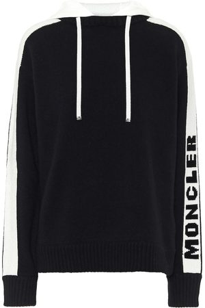 Moncler Logo wool and cashmere hoodie