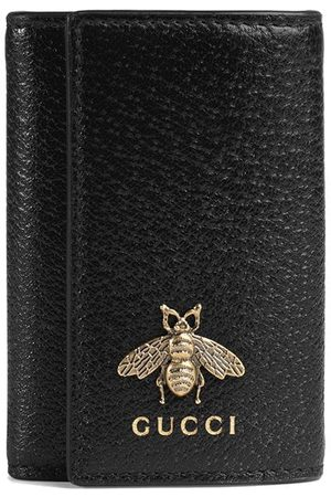 Gucci Bee detail leather key case