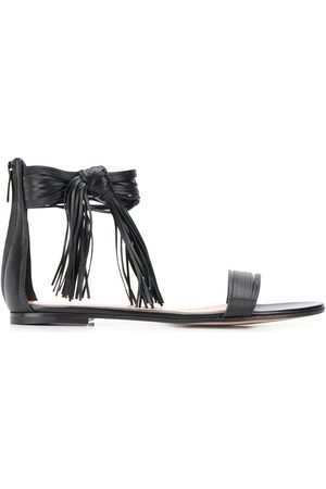 Gianvito Rossi Fringed flat sandals