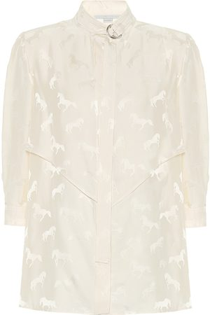 Stella McCartney Horse-jacquard silk-blend blouse