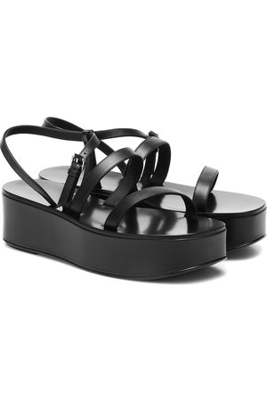 The Row Platform leather sandals