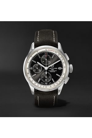 Breitling Premier Chronograph 42mm Stainless Steel And Nubuck Watch, Ref. No. A13315351b1x1