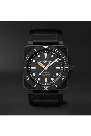 Bell & Ross Men Watches - Br 03-92 Diver Automatic 42mm Ceramic And Rubber Watch, Ref. No. Br0392-d-bl-ce/srb