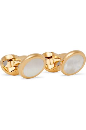 KINGSMAN Deakin & Francis -Plated Mother-of-Pearl Cufflinks