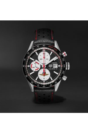 Tag Heuer Men Watches - Carrera Limited Edition Indy 500 Automatic Chronograph 41mm Steel And Leather Watch, Ref. No. Cv201as.fc6429
