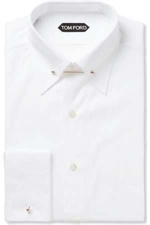 Tom Ford Slim-fit Pinned-collar Double-cuff Cotton-poplin Shirt