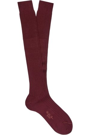 Loro Piana Ribbed Cashmere And Silk-blend Over-the-calf Socks