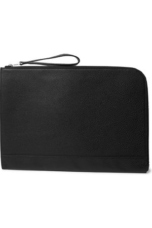 William & Son Bruton Textured-leather Pouch