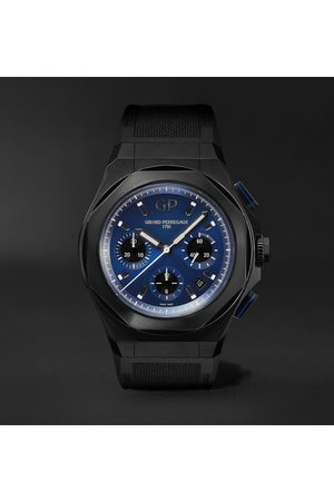 Girard Perregaux Laureato Absolute Automatic Chronograph 44mm Titanium And Rubber Watch, Ref. No. 81060-21-491-fh6a