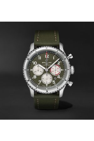 Breitling Aviator 8 B01 43 Curtiss Warhawk Automatic Chronograph 43mm Stainless Steel And Canvas Watch, Ref. No. Ab01192a1l1x2