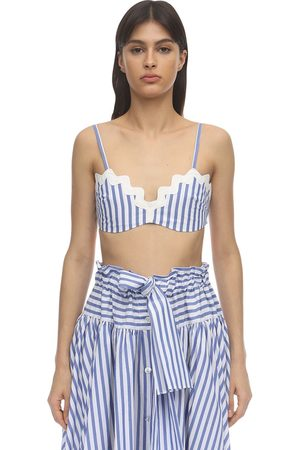 MARYAM NASSIR ZADEH Carlita Cotton Poplin Crop Top