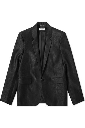 Saint Laurent Jaquard 1 Button Blazer