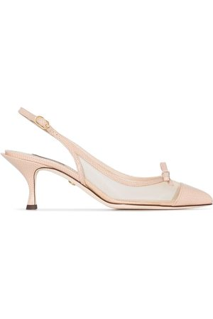 Dolce & Gabbana 60 pointed toe slingback pumps