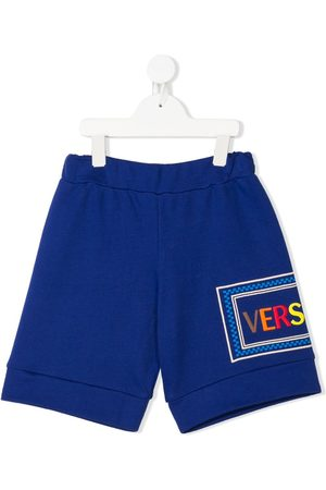 VERSACE Embroidered logo shorts