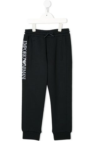 Emporio Armani Embroidered logo track pants