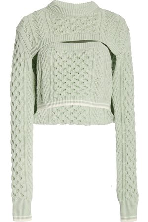 Rosie Assoulin Thousand-In-One-Ways Wool-Cotton Sweater