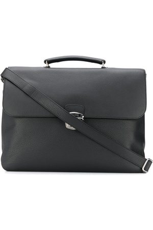 Orciani Men Laptop Bags - Foldover top large briefcase