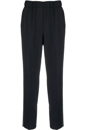 PESERICO SIGN Women Pants - Cropped chain-embellished trousers