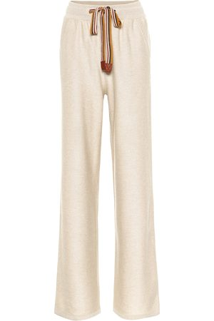 Loro Piana Women Suitcases & Luggage - The Suitcase Stripe cashmere trackpants