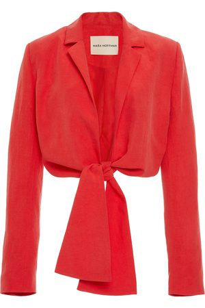 Mara Hoffman Catalina Tie-Front Tencel and Linen-Blend Jacket
