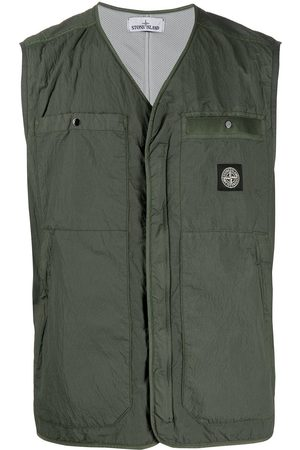 Stone Island Crinkled zip-up gilet