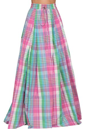 Ralph Lauren Women Maxi Skirts - Checked Cotton Poplin Madra Maxi Skirt