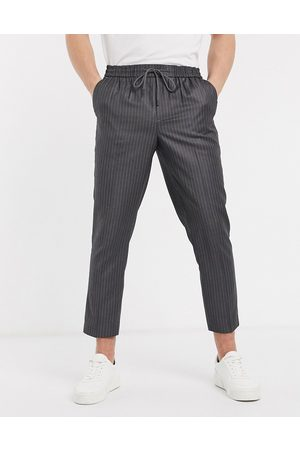 New Look Pinstripe smart joggers in mid