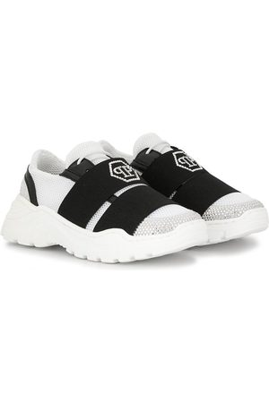 Philipp Plein Embellished logo strapped sneakers
