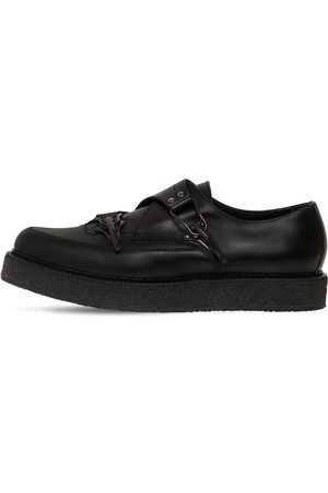 FAQTORY Buckle Leather Creeper Loafers