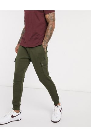 Polo Ralph Lauren Double tech cargo cuffed joggers player logo in olive