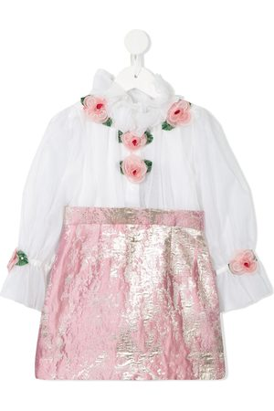 Dolce & Gabbana Rose detail contrast skirt dress