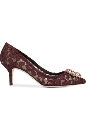 Dolce & Gabbana Crystal-embellished 60mm lace pumps