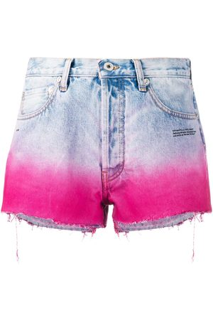 OFF-WHITE DEGRADE SHORTS BLEACH FUCHSIA