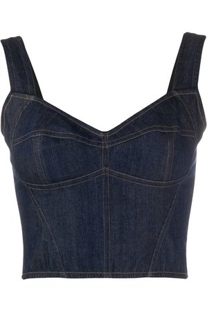 Dolce & Gabbana Cropped denim corset top