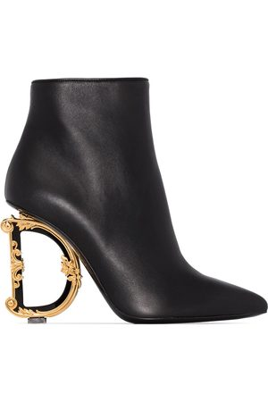 Dolce & Gabbana DG 105 metal heel leather ankle boots