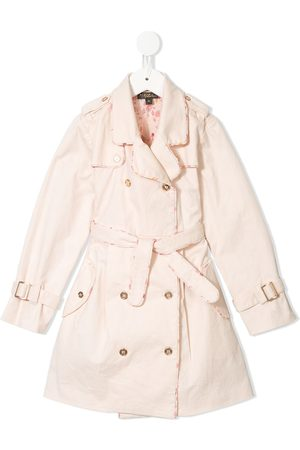Velveteen Taylor pleated trench coat