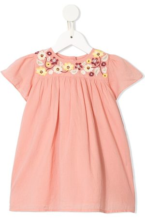 Velveteen Skye embroidered floral dress
