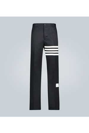 Thom Browne Unstructured 4-Bar cotton twill pants