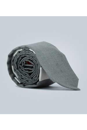 Thom Browne Men Neckties - 4-Bar wool tie