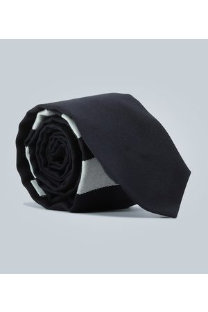 Thom Browne Women Neckties - Wool tie with striped detail