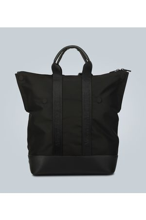 Alexander McQueen Leather-trimmed convertible backpack