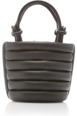 Staud Louie Striped Leather Top Handle Bag